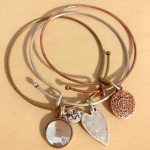 Bracelet Set with Charms